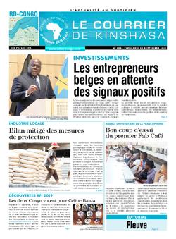Les Dépêches de Brazzaville : Édition le courrier de kinshasa du 20 septembre 2019