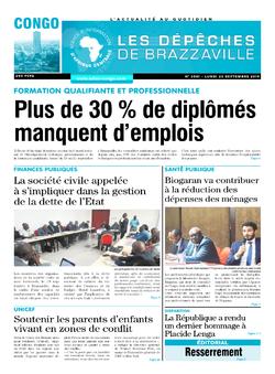 Les Dépêches de Brazzaville : Édition brazzaville du 23 septembre 2019