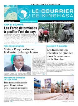 Les Dépêches de Brazzaville : Édition le courrier de kinshasa du 23 septembre 2019