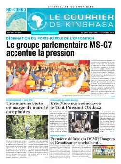 Les Dépêches de Brazzaville : Édition le courrier de kinshasa du 11 octobre 2019