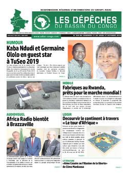 Les Dépêches de Brazzaville : Édition du 6e jour du 12 octobre 2019