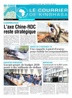 Les Dépêches de Brazzaville : Édition le courrier de kinshasa du 14 octobre 2019