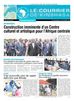 Les Dépêches de Brazzaville : Édition le courrier de kinshasa du 15 octobre 2019