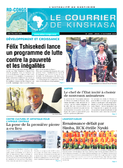 Les Dépêches de Brazzaville : Édition le courrier de kinshasa du 17 octobre 2019