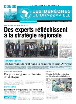 Les Dépêches de Brazzaville : Édition brazzaville du 18 octobre 2019