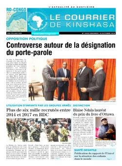 Les Dépêches de Brazzaville : Édition le courrier de kinshasa du 18 octobre 2019