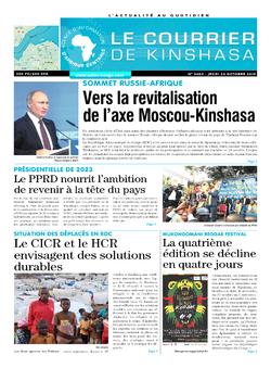 Les Dépêches de Brazzaville : Édition le courrier de kinshasa du 24 octobre 2019