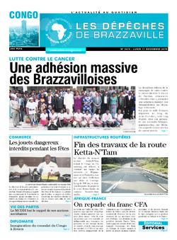 Les Dépêches de Brazzaville : Édition brazzaville du 11 novembre 2019