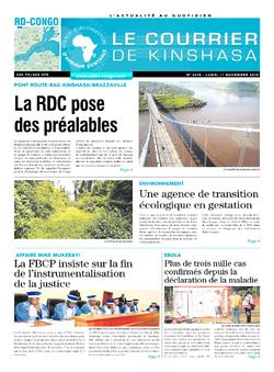 Les Dépêches de Brazzaville : Édition le courrier de kinshasa du 11 novembre 2019