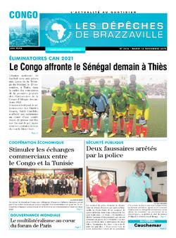 Les Dépêches de Brazzaville : Édition brazzaville du 12 novembre 2019