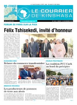 Les Dépêches de Brazzaville : Édition le courrier de kinshasa du 12 novembre 2019
