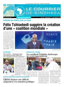 Les Dépêches de Brazzaville : Édition le courrier de kinshasa du 13 novembre 2019