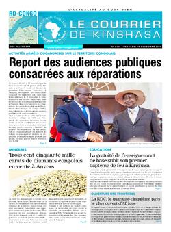 Les Dépêches de Brazzaville : Édition le courrier de kinshasa du 15 novembre 2019