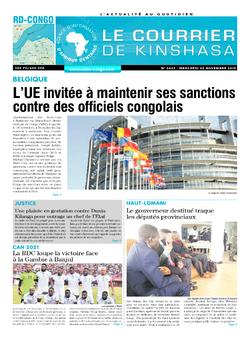 Les Dépêches de Brazzaville : Édition le courrier de kinshasa du 20 novembre 2019