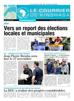 Les Dépêches de Brazzaville : Édition le courrier de kinshasa du 21 novembre 2019