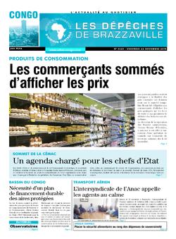 Les Dépêches de Brazzaville : Édition brazzaville du 22 novembre 2019