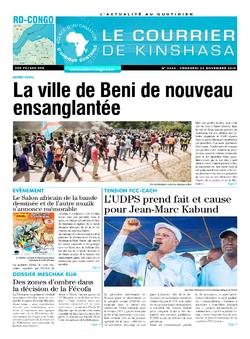 Les Dépêches de Brazzaville : Édition le courrier de kinshasa du 22 novembre 2019