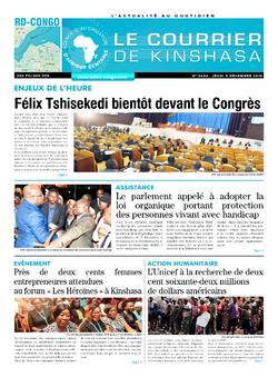 Les Dépêches de Brazzaville : Édition le courrier de kinshasa du 05 décembre 2019