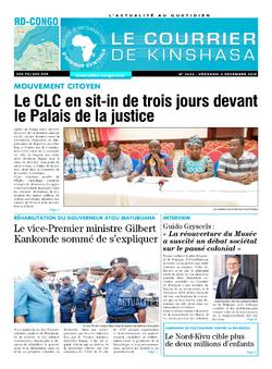 Les Dépêches de Brazzaville : Édition le courrier de kinshasa du 06 décembre 2019