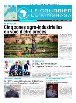 Les Dépêches de Brazzaville : Édition le courrier de kinshasa du 09 décembre 2019