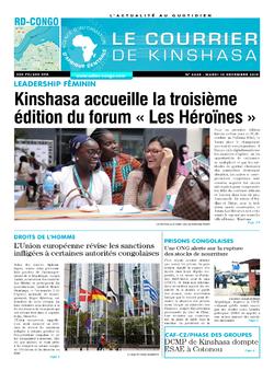 Les Dépêches de Brazzaville : Édition le courrier de kinshasa du 10 décembre 2019