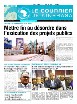 Les Dépêches de Brazzaville : Édition le courrier de kinshasa du 12 décembre 2019