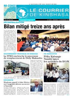 Les Dépêches de Brazzaville : Édition le courrier de kinshasa du 13 décembre 2019
