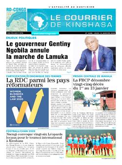Les Dépêches de Brazzaville : Édition le courrier de kinshasa du 16 janvier 2020