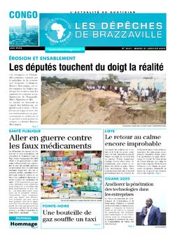 Les Dépêches de Brazzaville : Édition brazzaville du 21 janvier 2020