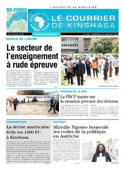 Les Dépêches de Brazzaville : Édition le courrier de kinshasa du 22 janvier 2020