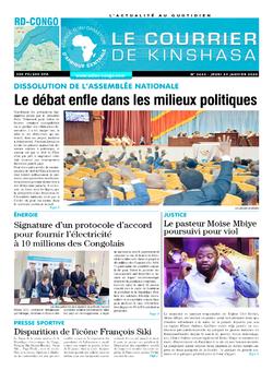 Les Dépêches de Brazzaville : Édition le courrier de kinshasa du 23 janvier 2020