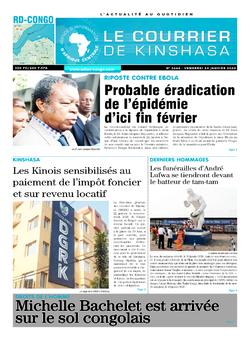Les Dépêches de Brazzaville : Édition le courrier de kinshasa du 24 janvier 2020