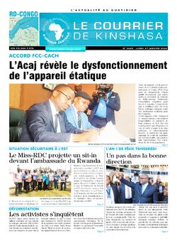 Les Dépêches de Brazzaville : Édition le courrier de kinshasa du 27 janvier 2020