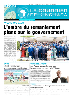 Les Dépêches de Brazzaville : Édition le courrier de kinshasa du 28 janvier 2020