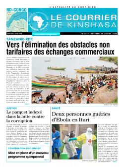 Les Dépêches de Brazzaville : Édition le courrier de kinshasa du 29 janvier 2020