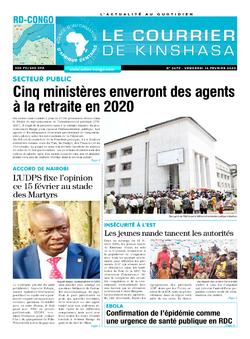 Les Dépêches de Brazzaville : Édition le courrier de kinshasa du 14 février 2020