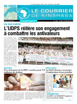 Les Dépêches de Brazzaville : Édition le courrier de kinshasa du 17 février 2020