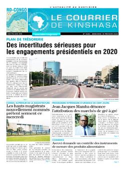 Les Dépêches de Brazzaville : Édition le courrier de kinshasa du 19 février 2020