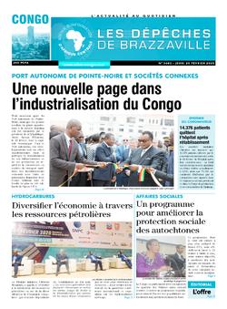 Les Dépêches de Brazzaville : Édition brazzaville du 20 février 2020