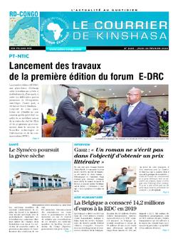 Les Dépêches de Brazzaville : Édition le courrier de kinshasa du 20 février 2020