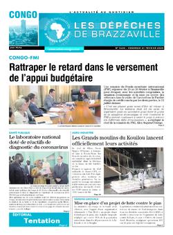 Les Dépêches de Brazzaville : Édition brazzaville du 21 février 2020