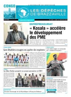 Les Dépêches de Brazzaville : Édition brazzaville du 24 février 2020