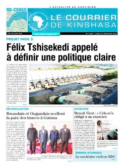 Les Dépêches de Brazzaville : Édition le courrier de kinshasa du 24 février 2020
