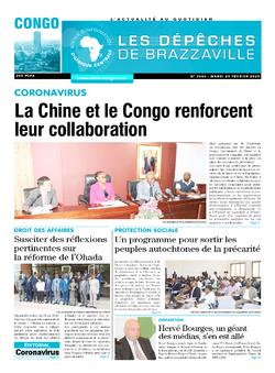 Les Dépêches de Brazzaville : Édition brazzaville du 25 février 2020
