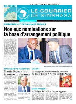 Les Dépêches de Brazzaville : Édition le courrier de kinshasa du 25 février 2020