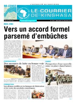 Les Dépêches de Brazzaville : Édition le courrier de kinshasa du 26 février 2020