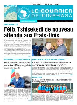 Les Dépêches de Brazzaville : Édition le courrier de kinshasa du 27 février 2020