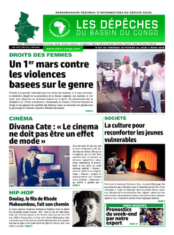 Les Dépêches de Brazzaville : Édition du 6e jour du 29 février 2020