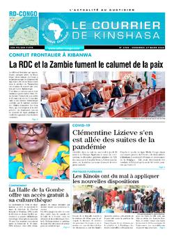 Les Dépêches de Brazzaville : Édition le courrier de kinshasa du 27 mars 2020