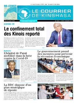 Les Dépêches de Brazzaville : Édition le courrier de kinshasa du 30 mars 2020